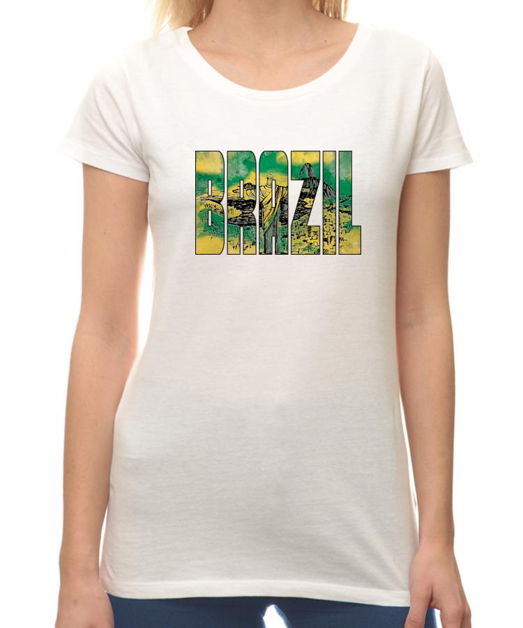 T shirt brazil 886ww citeesart for Womens brazil t shirt